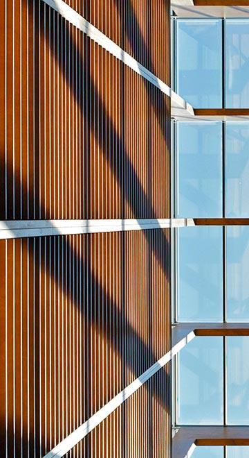 Glasdach über einem Lichthof